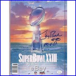 Jerry Rice San Francisco 49ers Signed Super Bowl XXIII Program & MVP Insc JSA