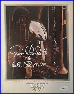 Jim Plunkett Signed Original Football Super Bowl XV Program SB XV MVP JSA