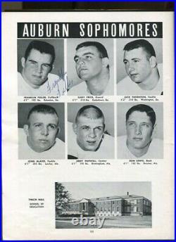 Jimmy Sidle Signed + 31 More 1964 Orange Bowl Program Auburn v Nebraska 68719