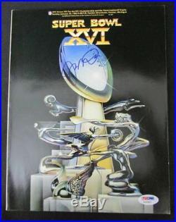 Joe Montana 49ers Signed Super Bowl XVI 1982 Official Program PSA/DNA AB20852
