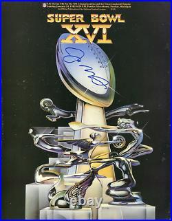 Joe Montana Autographed Super Bowl XVI Program
