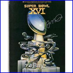 Joe Montana San Francisco 49ers Autographed Super Bowl XVI Program JSA