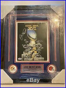 Joe Montana San Francisco 49ers Autographed Super Bowl XXIV Program JSA Framed