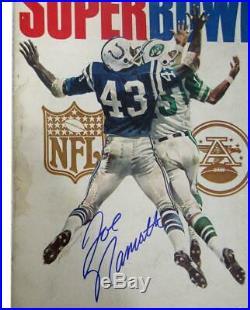 Joe Namath New York Jets Super Bowl III Autographed/Signed Program JSA 135560