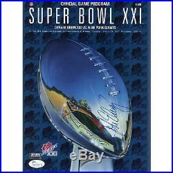 John Elway Denver Broncos Signed Super Bowl Program & HOF Inscription JSA COA