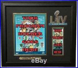 Kansas City Chiefs Super Bowl LIV 54 Program & Ticket Holder Black Frame