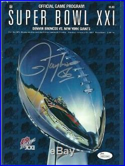 Lawrence Taylor Signed Original Football Super Bowl XXI Program SB Champs JSA