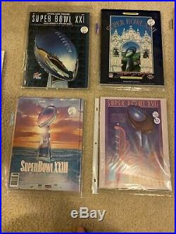 Lot Of 9 Super Bowl Programs! Super Bowl XXIII And Other Great Classic Games