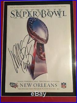 MINT Super Bowl XXXVI Ludacris Signed Football and Program MTV TRL Rock N Jock