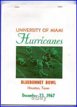 Miami Hurricanes RARE 1967 Bluebonnet Bowl Program v Colorado NCAA Football