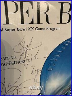Mike Richardson Dave Duerson Stefan Humphries Chicago Bears Super Bowl Program