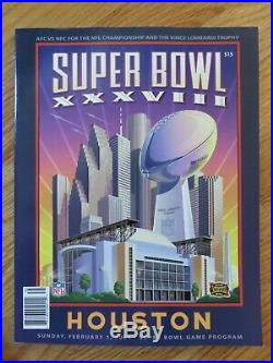 NEW ENGLAND PATRIOTS Super Bowl XXXVI XXXVIII XXXIX XLIX XLI LIII Programs BRADY