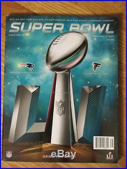 NEW ENGLAND PATRIOTS Super Bowl XXXVI XXXVIII XXXIX XLIX XLI Programs TOM BRADY
