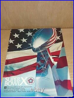NFL 1976 Super Bowl 10 Program Dallas Cowboys Vs Pittsburgh Steelers