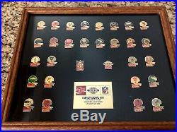 NFL 1985 Coca-Cola Super Bowl XIX Framed Pin Set