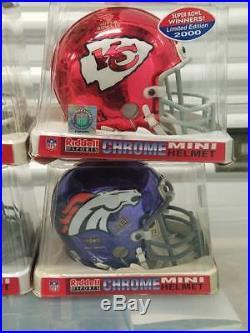 NFL Chrome Super Bowl Mini Helmet Lot Chiefs, Broncos, Giants, Colts, Redskins