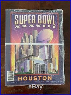 NFL Super Bowl 38 Official Program New England Patriots vs. Carolina Panthers