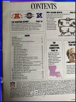 NFL Super Bowl XX Chicago Bears vs New England Patriots 1986 Program Autographed