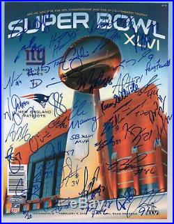 New York Giants Signed Super Bowl XLVI Game Program with 38 Sigs LE 10