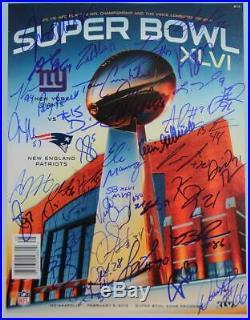 New York Giants Super Bowl XLVI Team Signed Program LE 10 Fanatics