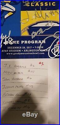 OHIO STATE BUCKEYES auto Barrett Dobbins Weber Cotton Bowl Program signed #2