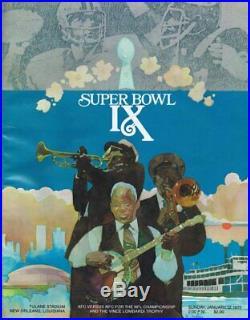 ORIGINAL 1975 Super Bowl IX Program 1st Pittsburgh Steelers Championship Vikings