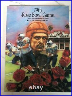 Official College Football Program - 1993 Washington vs. Michigan (Rose Bowl)