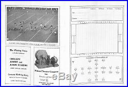Official Souvenir Program of the Princeton-Yale Football Game Yale Bowl 1921