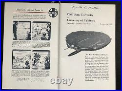 Ohio State 1950 Rose Bowl Train Menu Signed Football Buckeyes Robert Momsen