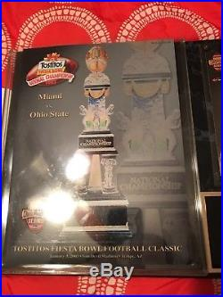 Ohio State Buckeyes 2003 Tostitos Fiesta Bowl Miami Hurricanes program & ticket