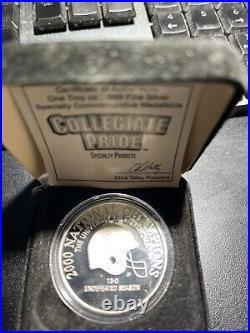 Oklahoma Sooners Football Coin 2000 Orange Bowl vs Florida St Nat Championship