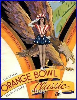 Orange Bowl Classic NCAA Football Game Program-1/1/43-team pix-Miami FL-G/VG
