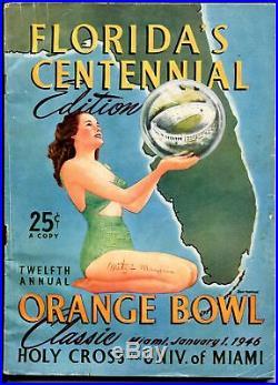 Orange Bowl Classic NCAA Football Game Program-1/1/46-team pix-Miami FL-VG+