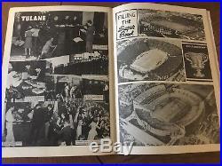 Orig 1940 6th ever SUGAR BOWL COLLEGE FOOTBALL PROGRAM. LSU Tulane Vs Texas A&M
