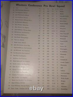Original 1954 4th NFL All Star Pro Bowl Game Football Program