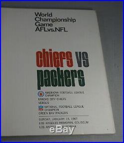 Original 1967 Super Bowl I Green Bay Packers Vs. Chiefs Football Program Nice
