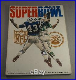 Original 1969 Super Bowl III N. Y. Jets Vs Baltimore Colts Football Program Nice