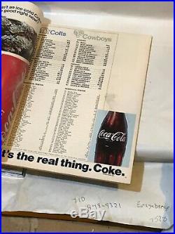 Original 1971 Super Bowl V Dallas Cowboys Baltimore Colts Football Program Nice