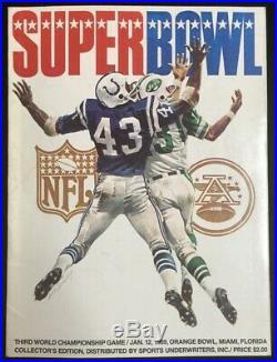 Original Super Bowl 3 Game Program 1969 AFL NFL Championship III Jets Colts NICE