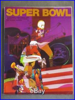 Original Super Bowl IV Football Program 1970 Vikings vs Chiefs Complete NICE