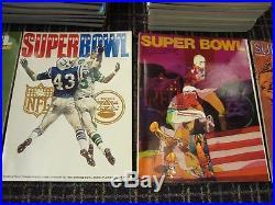 Original Super Bowl Program Complete Run of 1-50 Beautiful Condition