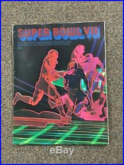 Original Super Bowl VII Football Program 1973 Brochure