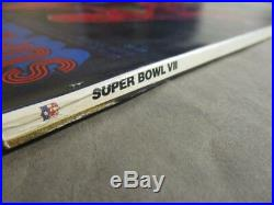 Original Super Bowl VII Football Program 1973 Dolphins vs Redskins Complete VF