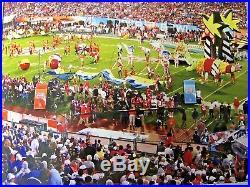 Original Very Rare ROMERO BRITTO 2007 Super bowl football Colts Indianapolis