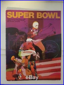 Original Vintage 1970 Super Bowl IV Kansas City Chiefs vs Vikings Program
