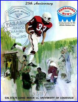 Pasadena Bowl NCAA Football Game Program 12/19/1970-Louisville-Cal State-VF