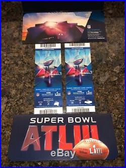Patriots vs Rams Super Bowl Ticket stubs and game program