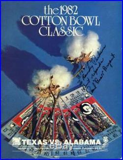 Paul Bear Bryant Jsa Autograph 1982 Cotton Bowl Program Hand Signed