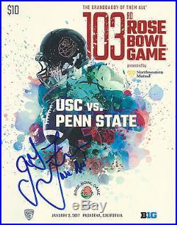 Penn State Nittany Lions JAMES FRANKLIN Signed Rose Bowl Program PROOF
