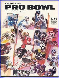 Pro Bowl NFL Football Game Program 1/21/1968-LA Coliseum-Unitas-Sayers-FN